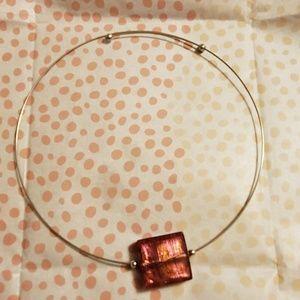 Murano bead Italian choker necklace